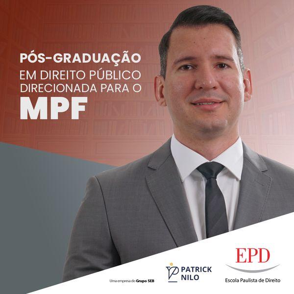 Pós-Graduação em Direito Público direcionada para MPF